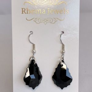 Rhema Jewels Swarovski Jet Crystal Earring